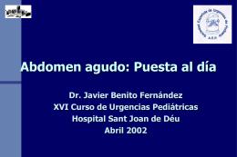 Abdomen agudo - EXTRANET - Hospital Universitario Cruces