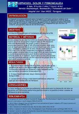 Hipnosis, Dolor y Fibromialgia