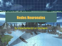 Redes Neuronales - Su implementación en Hardware