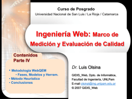 WebQEM - Universidad Nacional de San Luis