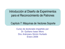 Introducción al Diseño de Experimentos para el Reconocimiento de