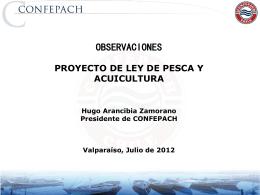 Presentacion del Presidente de Confepach en el Congreso Nacional