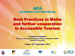 KNPD Presentation - Accessible Tourism Malta