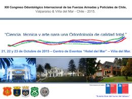 XIII Congreso Odontológico Internacional de las Fuerzas Armadas y