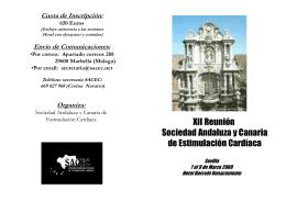 Envío de Comunicaciones - Sociedad Andaluza y Canaria de