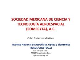 sociedad mexicana de ciencia y tecnología aeroespacial (somecyta)