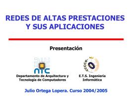 Arquitecturas con varios procesadores Tecnología