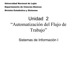 Workflow Administrativo - Universidad Nacional de Luján