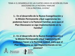 Qué sugerencias les podemos hacer a la Pastoral Familiar, para