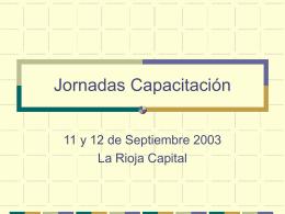3. Jornadas Copa de Leche