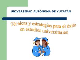 Presentación 1 - Universidad Autónoma de Yucatán