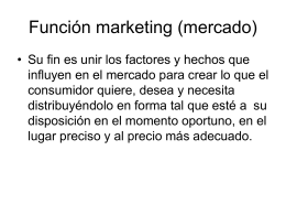Función marketing (mercado) - Departamento de Industria y Negocios