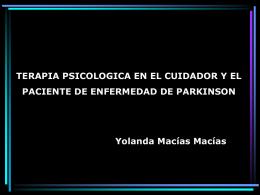 Terapia Psicologica en el Cuidador y el Paciente de Parkinson