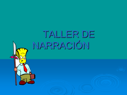 TALLER DE NARRACIÓN