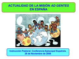 Actualidad de la Misión ad gente en España
