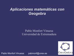 Algunas aplicaciones para Geogebra