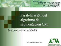 Paralelización de un algoritmo de segmentacion