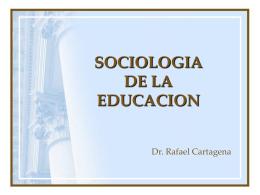 sociologia de la educac