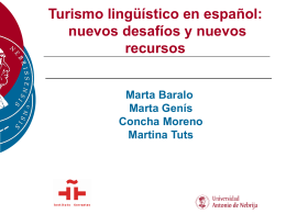 PPT Turismo - Universidad Antonio de Nebrija