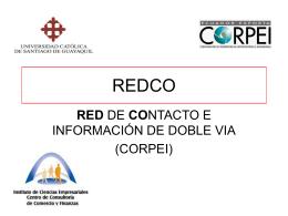 Difundir la red - Universidad Católica de Santiago de Guayaquil