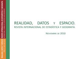 """La Nueva Revista """"Realidad, datos y espacio"""""""