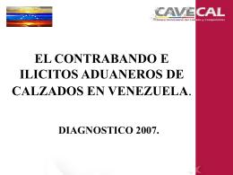el contrabando e ilicitos aduaneros de calzados en venezuela
