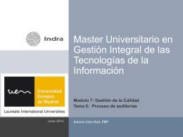 Master Oficial en Gestión Integral de las Tecnologías de la Información