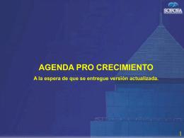 ver presentación Sr. Juan Claro (Agenda Pro Crecimiento)