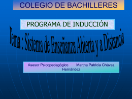 Programa de Inducción