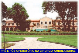 Cirurgia Ambulatorial 16.05 Dr Sebastiao
