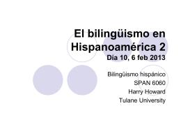 El bilingüismo en Hispanoamérica