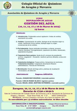 Slide 1 - Colegio de Químicos de Aragón y Navarra