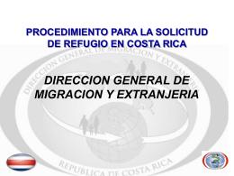 Procedimiento para la Solicitud de Refugio en Costa Rica