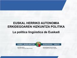 Uso del euskera en la enseñanza