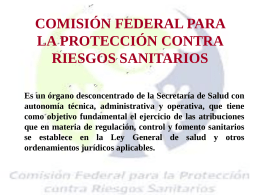 COMISIÓN FEDERAL PARA LA PROTECCIÓN CONTRA RIESGOS