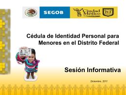 1. ¿Qué es la Cédula de Identidad Personal para Menores?