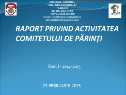 raport asociatie parinti 2014-2015