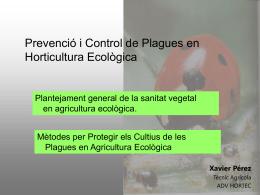 Prevenció i control de plagues en Horticultura Ecològica