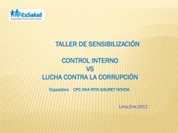 ¿qué es el control interno?