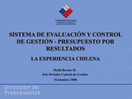 Sistema de Evaluación y Control de Gestión