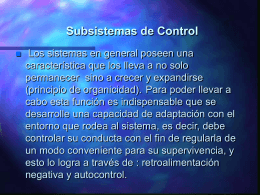Subsistemas de Control