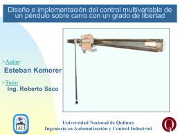 Diseño e implementación del control multivariable de un péndulo
