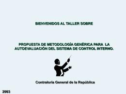 AUTOEVALUACIÓN DEL SISTEMA DE CONTROL INTERNO