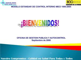 Capacitación MECI 1000:2005 - Hospital Rafael Uribe Uribe ESE