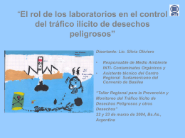 El rol de los laboratorios en el control del tráfico ilícito de