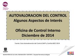 Autovaloración del control