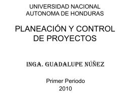 Material de Planeación y Control de Proyectos