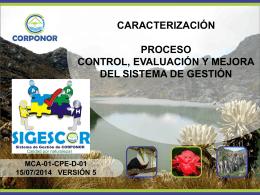 caracterización proceso control, evaluación y mejora del