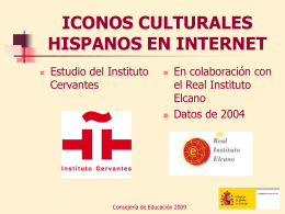 Iconos culturales hispanos en internet
