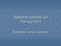 Aspectos sociales del Management